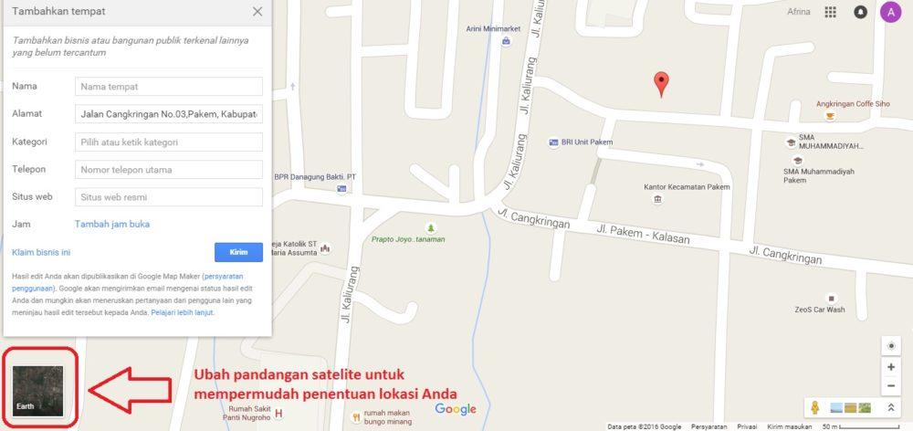 Ubah pandangan satelit - Google Maps